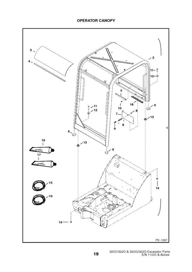 Bobcat 320G Excavator Parts Catalogue Manual S/N 223911001