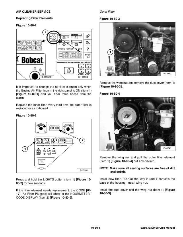 BOBCAT S300 SKID STEER LOADER Service Repair Manual S/N