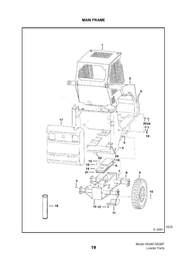 Bobcat 553 AF BF Series Skid Steer Loader Parts Catalogue