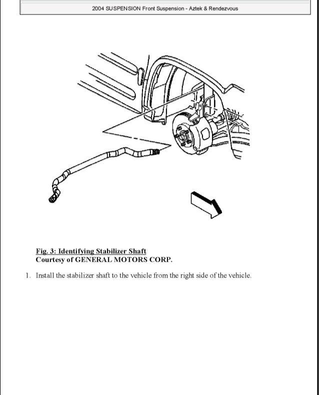 2003 Buick Rendezvous Service Repair Manual