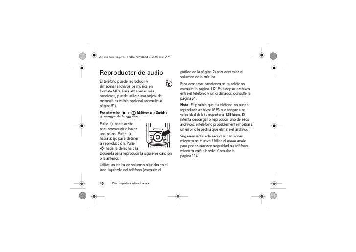 MOTOROLA Z3 Manual ESPAÑOL