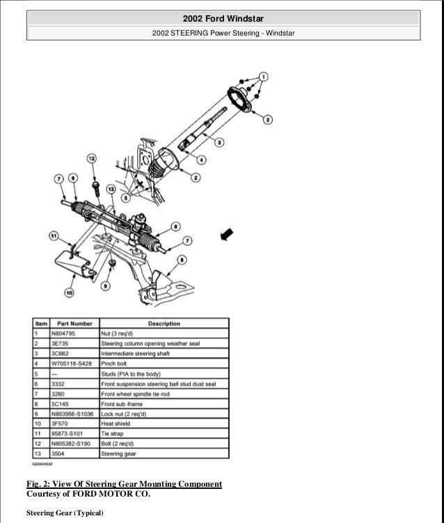 2000 ford windstar steering column diagram  wiring diagram