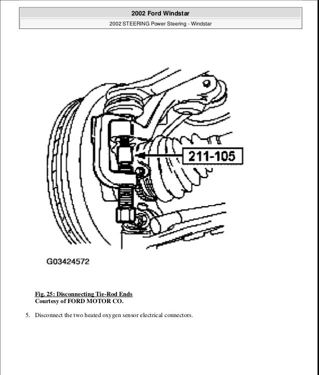 1999 FORD WINDSTAR Service Repair Manual