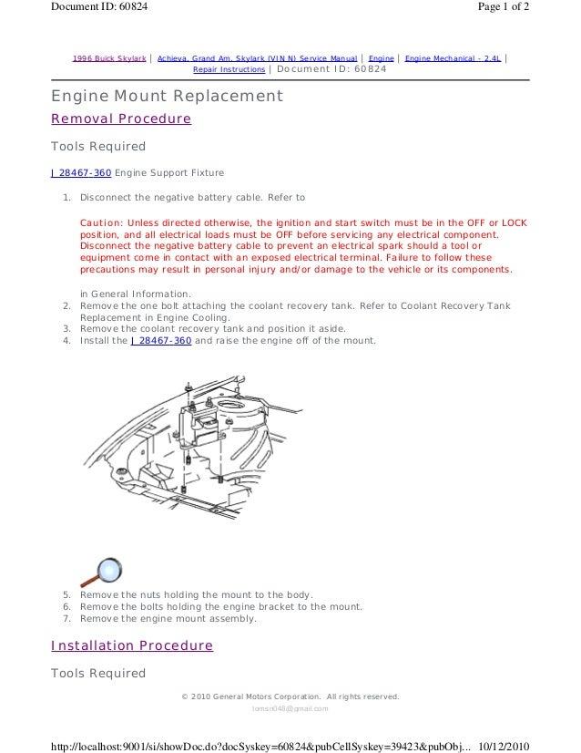 1994 pontiac grand am service repair manual rh slideshare net 2002 Pontiac Grand AM 1994 pontiac grand am repair manual