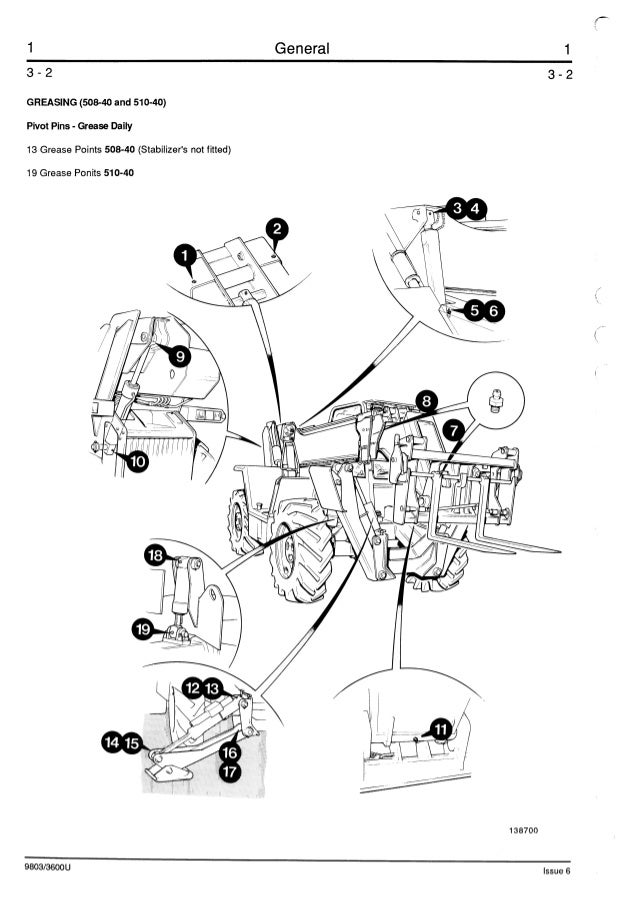 JCB 506-36 TELESCOPIC HANDLER Service Repair Manual ALL