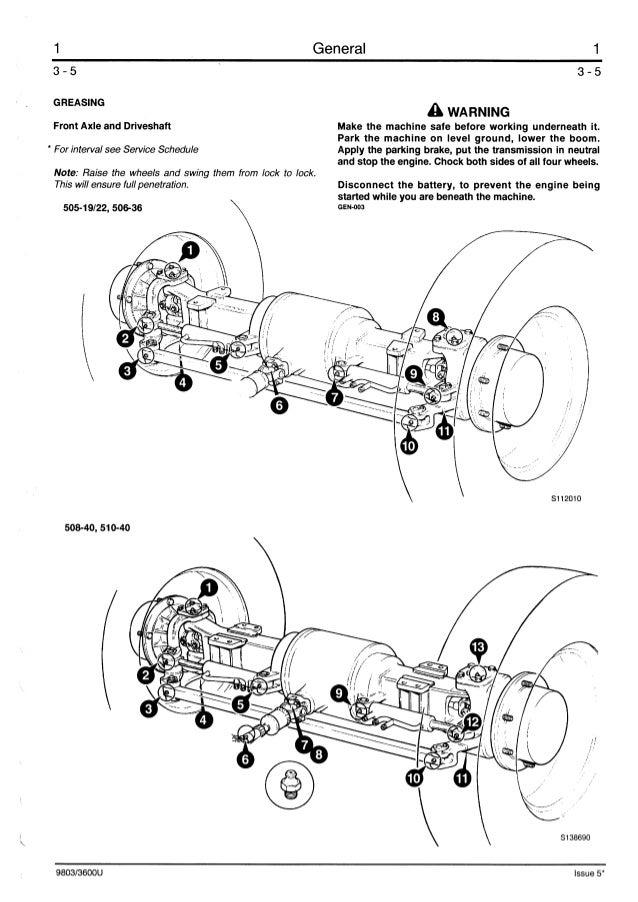 JCB 506-36 TELESCOPIC HANDLER Service Repair Manual ALL