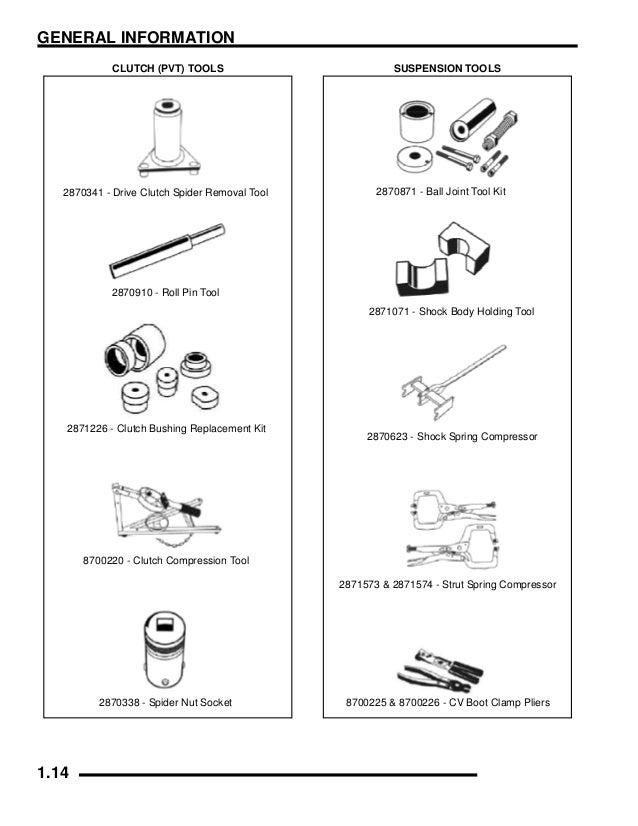 2007 Polaris Ranger 4 X 4 500 EFI Service Repair Manual