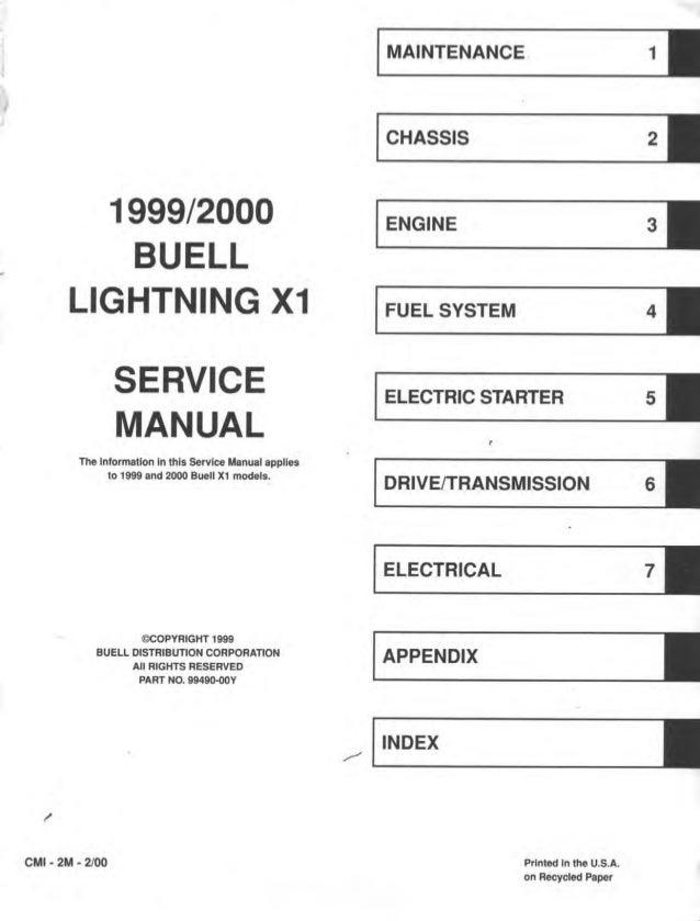 2000 buell lightning x1 service repair manual rh slideshare net buell x1 service manual download buell x1 service manual pdf