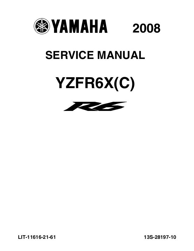 2008 Yamaha YZFR600XBC Service Repair Manual