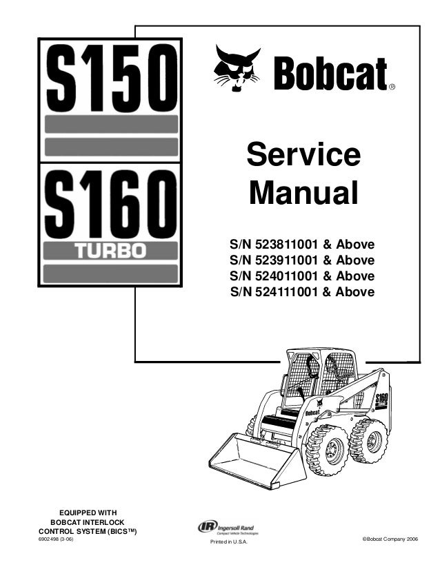 bobcat s150 skid steer loader service repair manual s n 523911001 \u0026 a\u2026 Bobcat T300 Parts Diagram bobcat s150 skid steer loader service repair manual s n 523911001 \u0026 above