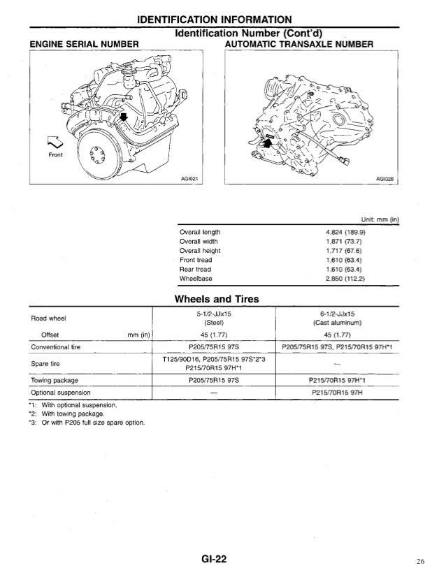 1995 NISSAN QUEST Service Repair Manual