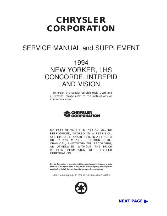 1994 dodge intrepid service repair manual rh slideshare net 96 Dodge Intrepid Transmission 96 Dodge Intrepid Interior