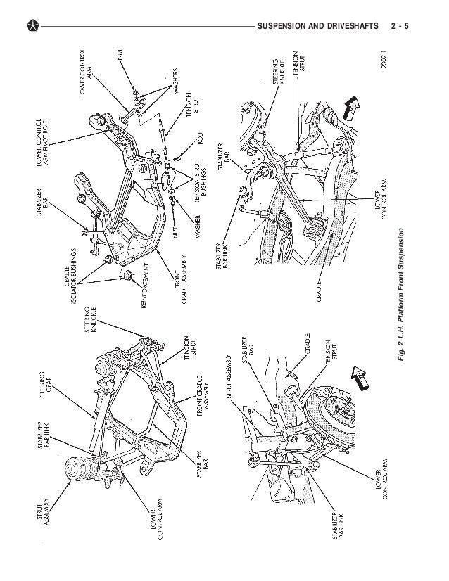 1994 Dodge Intrepid Front Suspension Diagram Illustration Of