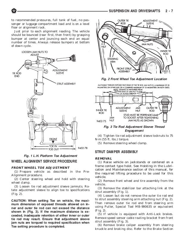 suspension and driveshafts