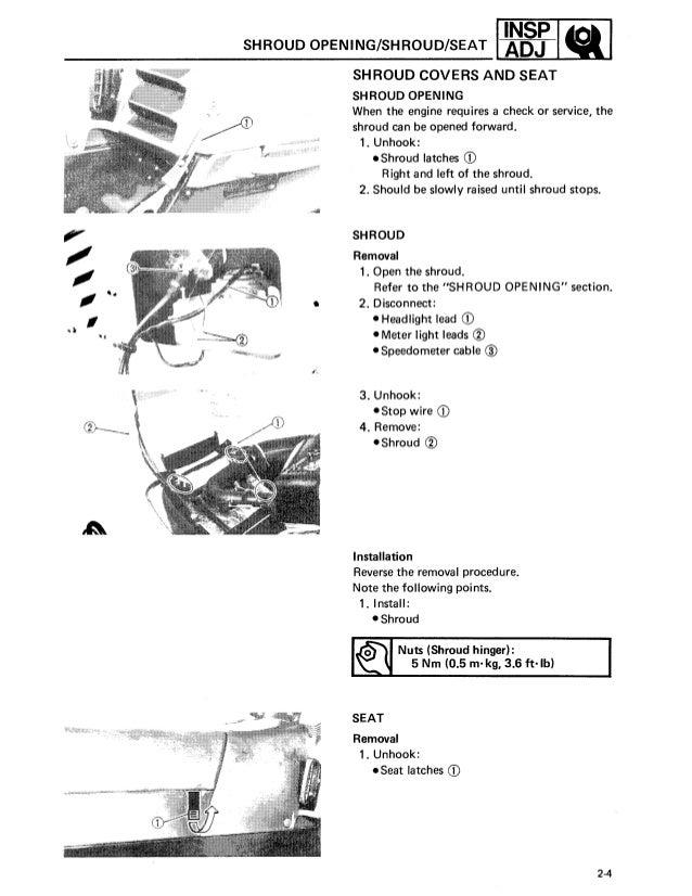 yamaha vk 540 repair manual