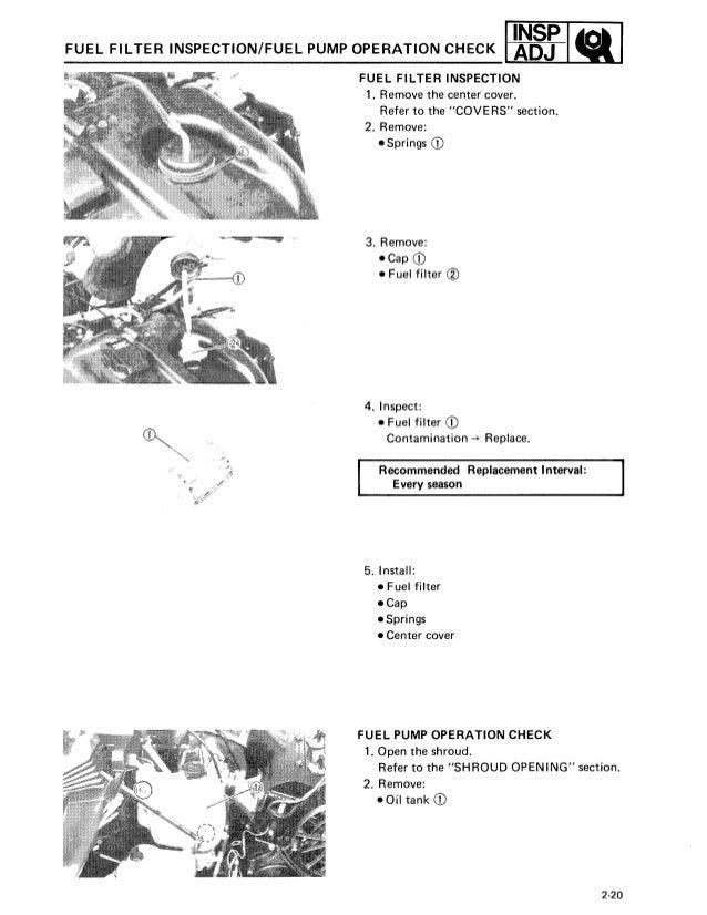 1991 Yamaha Viking Vk 540 Series Snowmobile Service Repair Manual