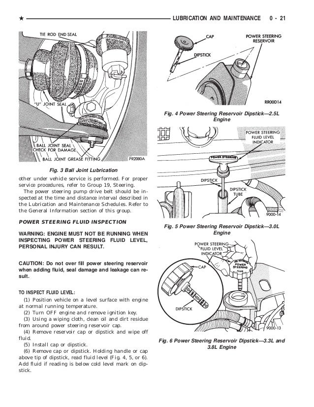 1994 DODGE CARAVAN Service Repair Manual