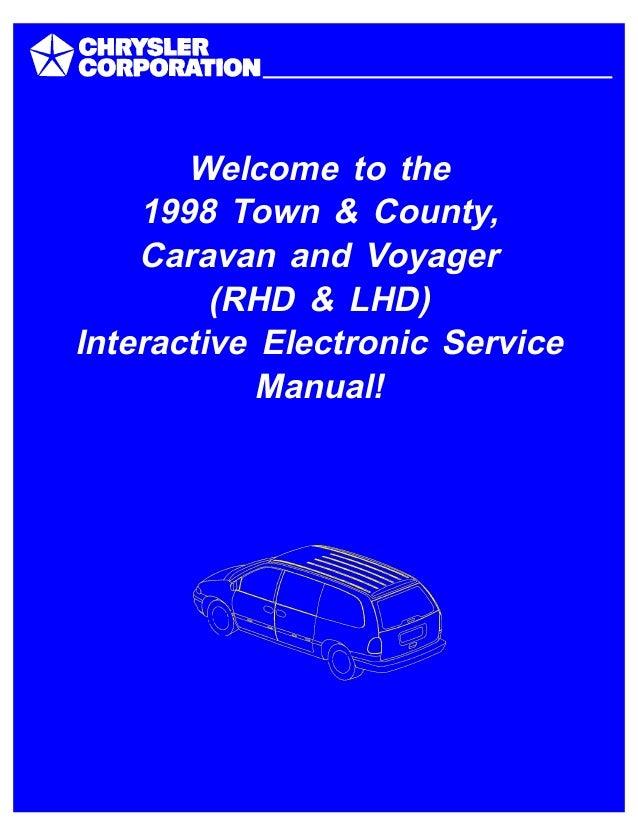 1998 DODGE CARAVAN Service Repair Manual