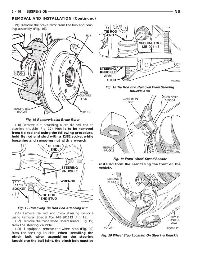 1998 DODGE CARAVAN Service Repair Manual