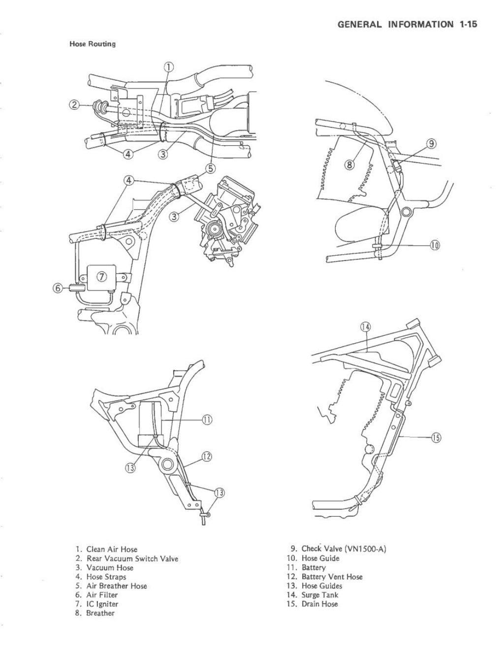 1987 KAWASAKI VN1500-B1 Service Repair Manual