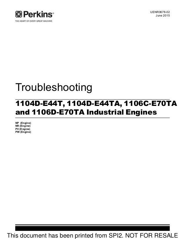 perkins 1106c e70ta and 1106d e70ta industrial engine model pv servi rh slideshare net Detroit Diesel Engine Manuals Kohler Engines Service Manual