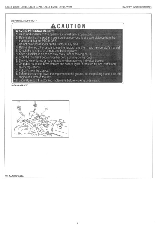 Kubota L5740 Tractor Service Repair Manual