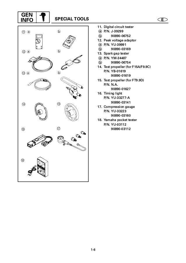 YAMAHA FT9.9DEH OUTBOARD Service Repair Manual X: 600101-