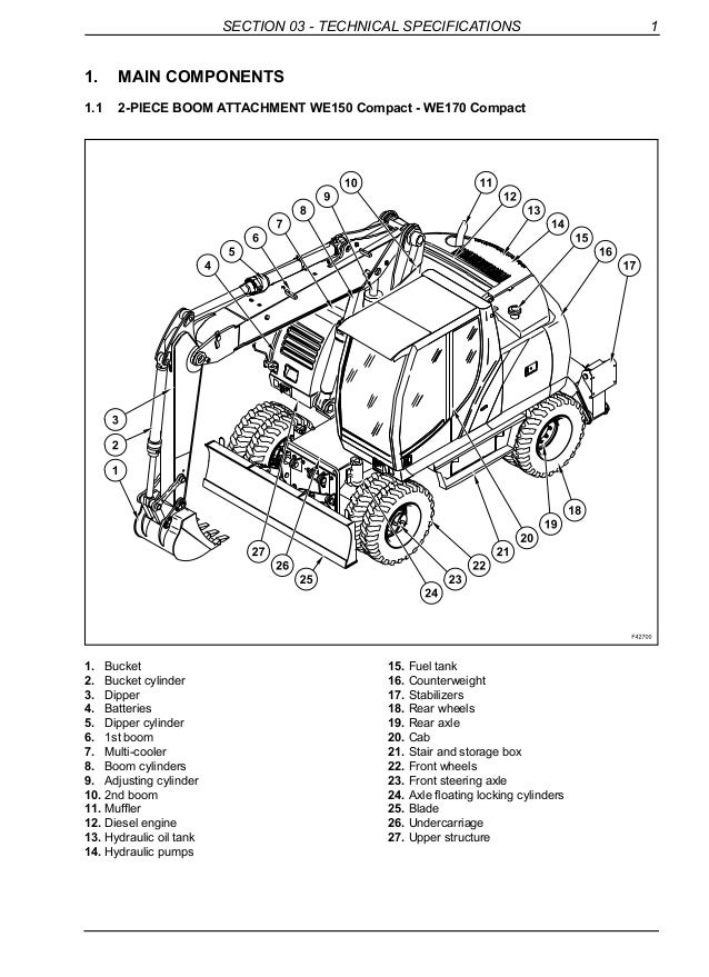 NEW HOLLAND WE150 COMPACT WHEELED EXCAVATOR Service Repair Manual on