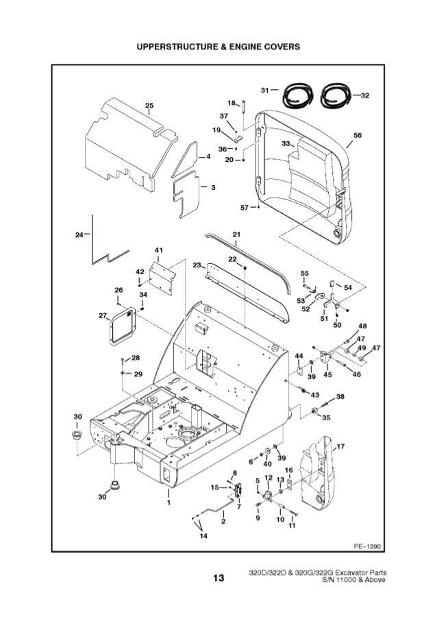 Bobcat 322d Excavator Parts Catalogue Manual Sn 223511001 And Above