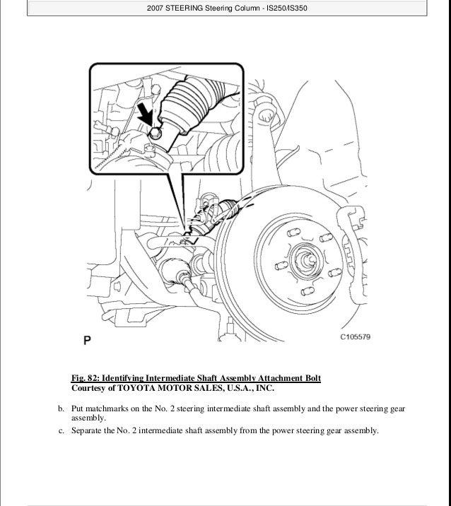 2007 Lexus Is250 Service Repair Manual