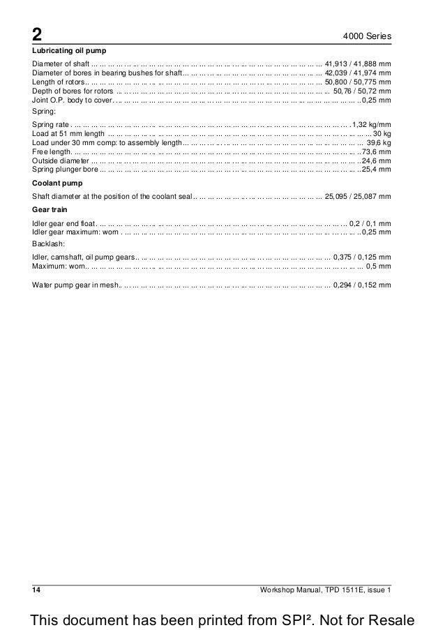 PERKINS 4000 SERIES 4006-23 TAG2A INLINE DIESEL ENGINE