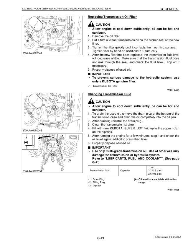Kubota BX2350D Tractor Service Repair Manual