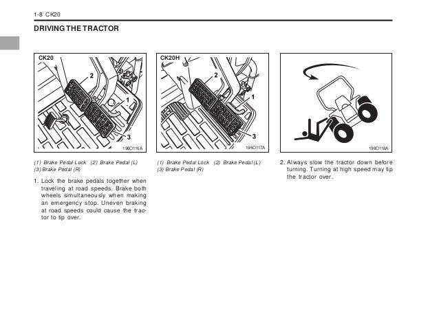 Kioti Daedong CK20 Tractor operator's manual