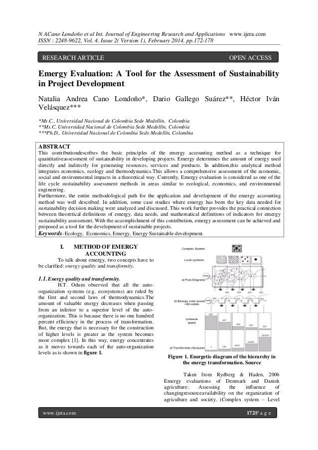 N ACano Londoño et al Int. Journal of Engineering Research and Applications www.ijera.com ISSN : 2248-9622, Vol. 4, Issue ...