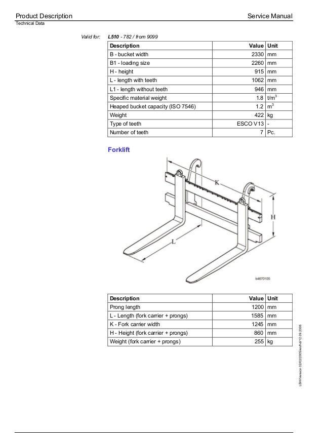 Liebherr L509-779 Wheel Loader Service Repair Manual SN:9099