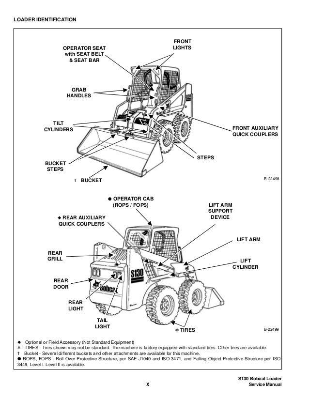 BOBCAT S130 SKID STEER LOADER Service Repair Manual S/N