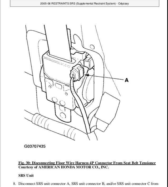 2005 HONDA ODYSSEY Service Repair Manual