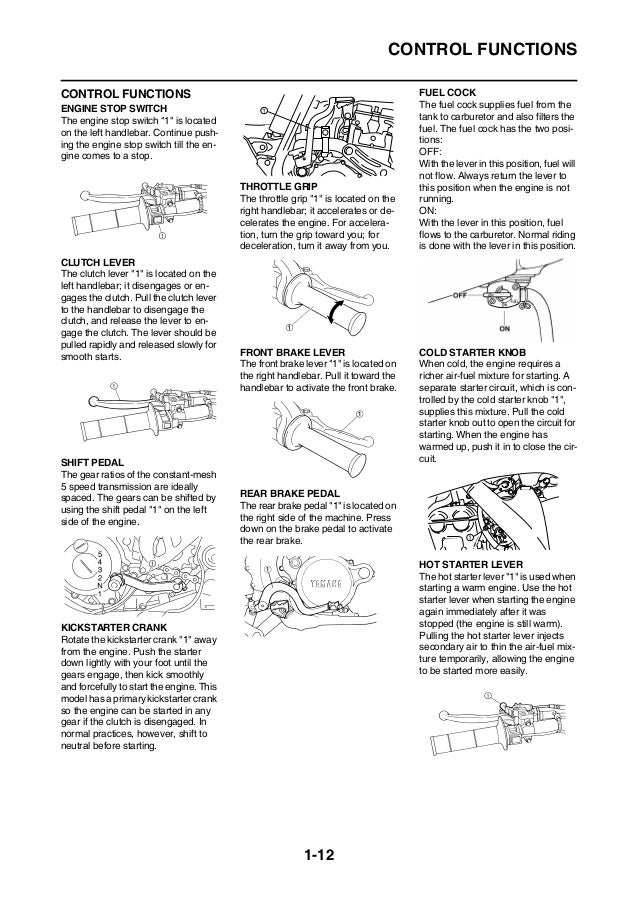 2010 Yamaha YZ250F(Z) Service Repair Manual