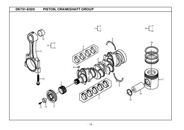 Kioti Daedong DK751C Tractor Parts Catalogue Manual