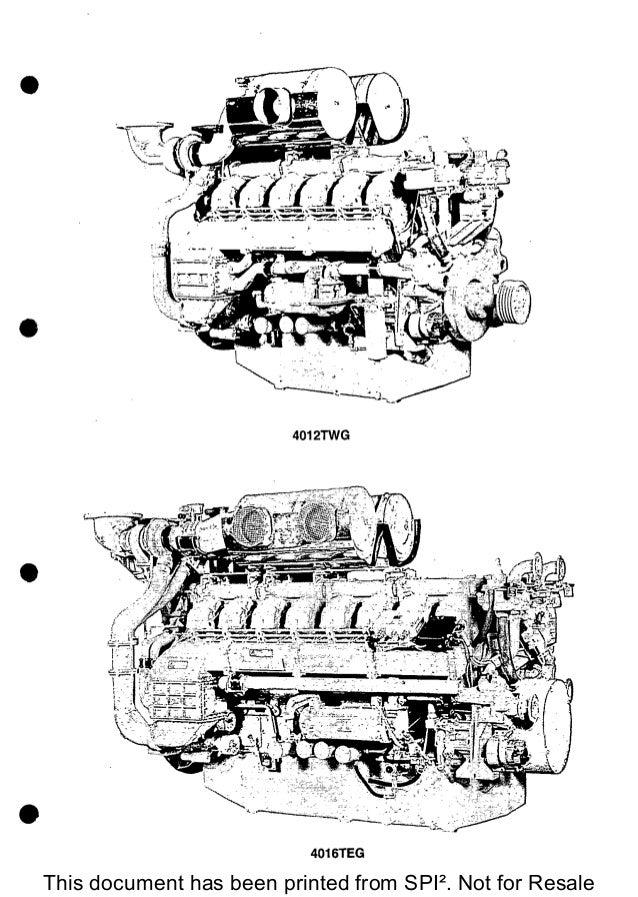 PERKINS 4000 SERIES 4012TWG DIESEL ENGINE Service Repair