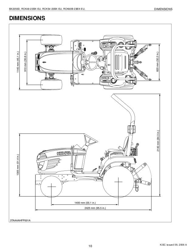 Kubota RCK54-23BX-EU Tractor Service Repair Manual