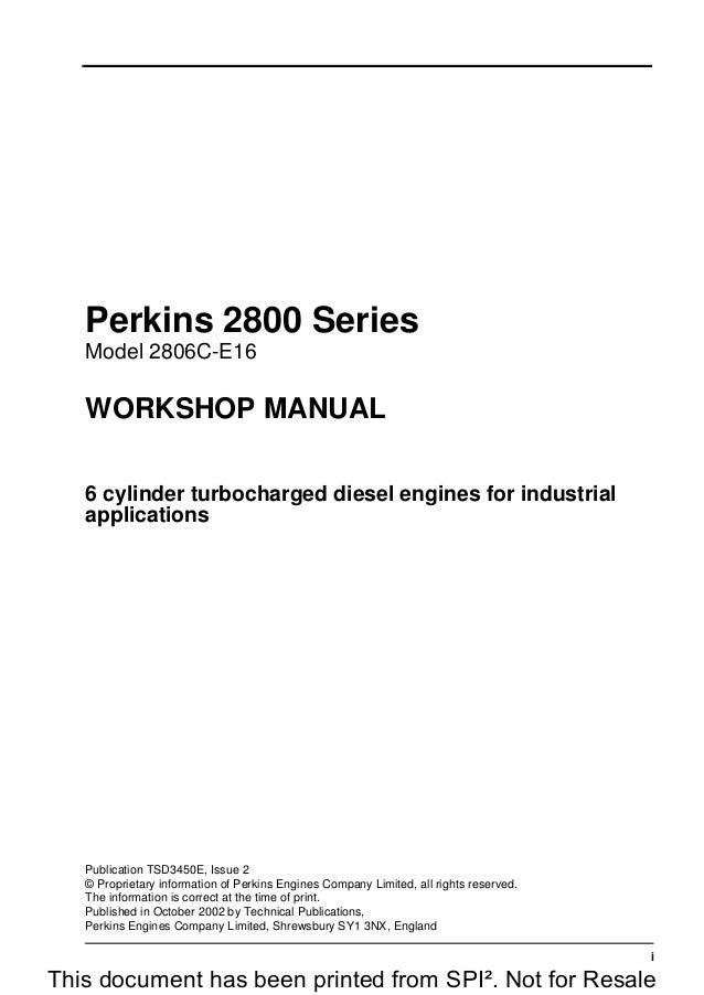 Perkins prima 500 series workshop manual.