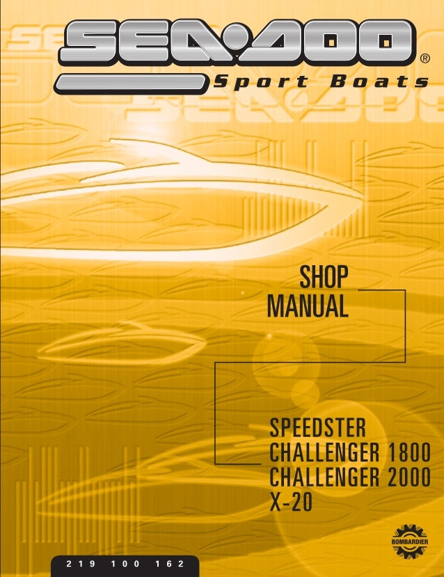 2002 Sea Doo Speedster Service Repair Manual