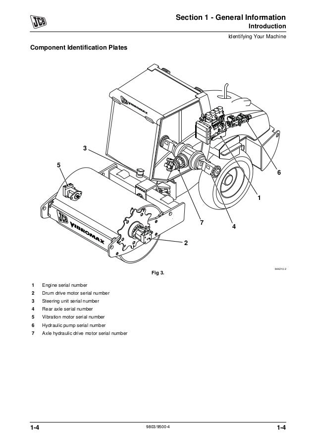 JCB VM166D Smooth Drum Roller Service Repair Manual SN:1800000