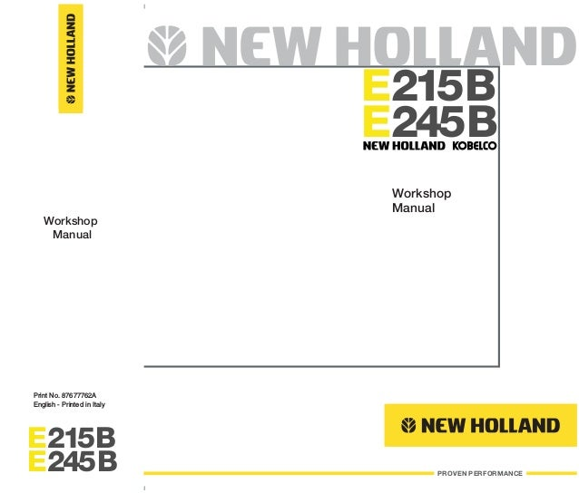 New Holland Kobelco E245B Crawler Excavator Service Repair Manual