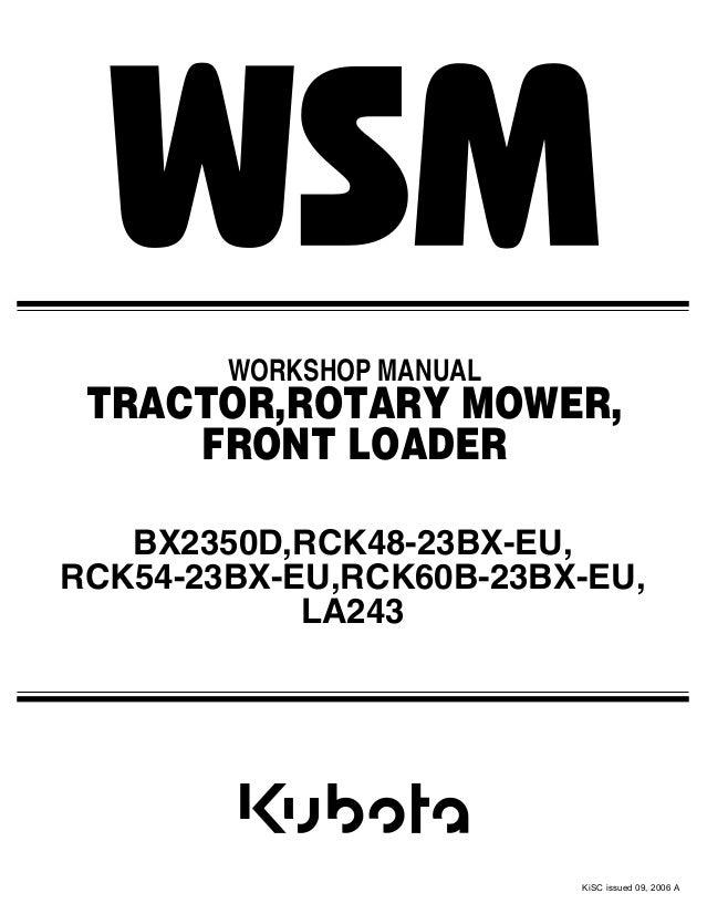 Kubota LA243 Tractor Service Repair Manual