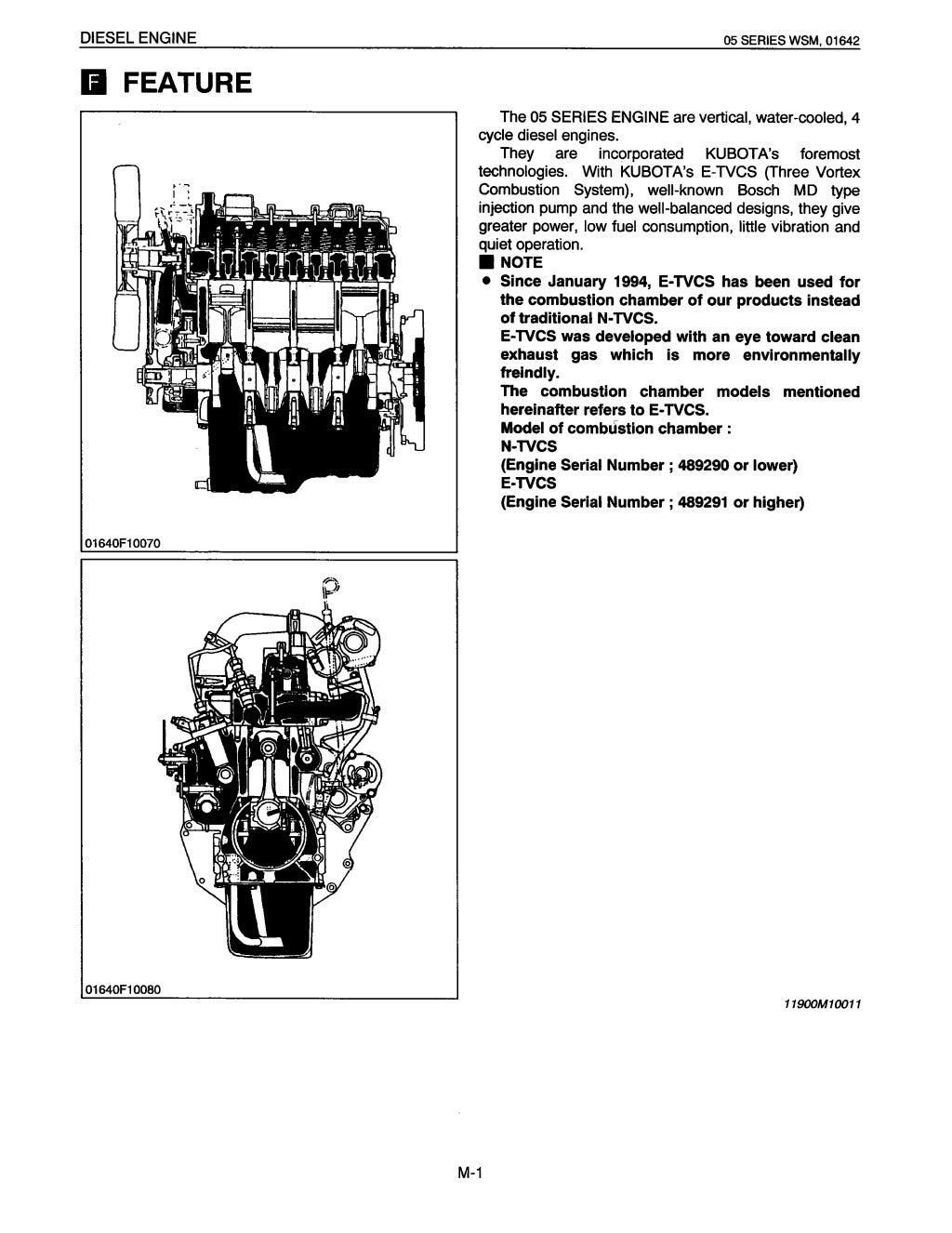 KUBOTA D1105-B (E) DIESEL ENGINE Service Repair Manual