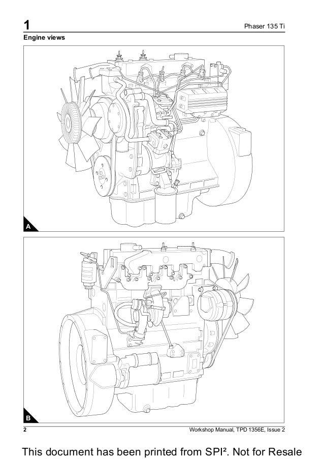 Perkins Phaser 135 Ti Model Al Euro 2 Diesel Engine Service Repair