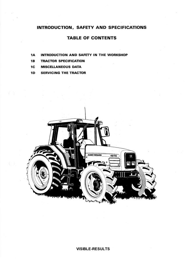 Massey Ferguson Mf 4253 Tractor Service Repair Manual