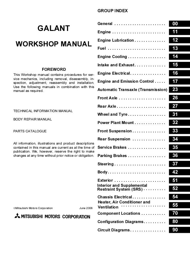 2007 Mitsubishi Galant Service Repair ManualSlideShare